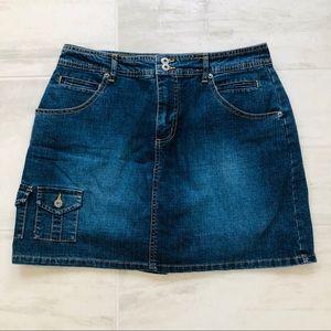 Gloria Vanderbilt Denim Skort Back Pocket Flaps